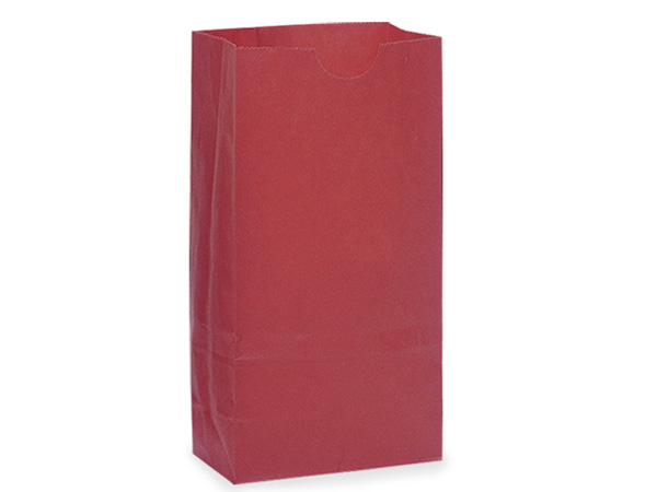 "Red 2 lb Gift Sacks, 4.25x2.25x8"", 500 Pack"