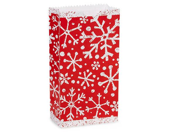 "**Snowflake Gift Sack, 2 lb Bag 4.25x2.25x8"", 250 Pack"