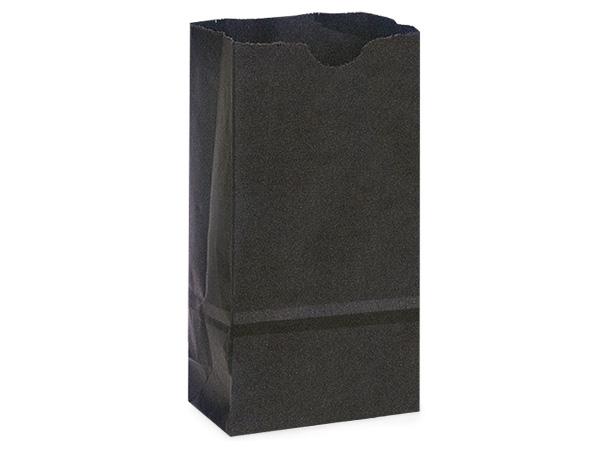 "Black 4 lb Gift Sacks, 5x3x9.5"", 500 Pack"