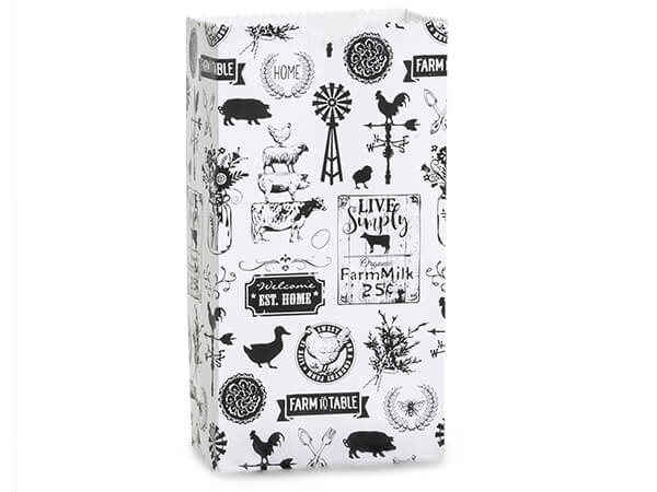 "Farmhouse Favorites Gift Sack, 4 lb Bag 5x3x9.5"", 250 Pack"