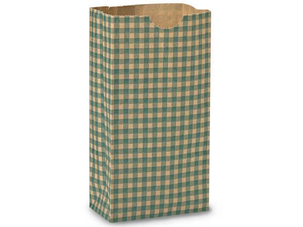 "Hunter Gingham Gift Sack, 4 lb Bag 5x3x9.5"", 250 Pack"