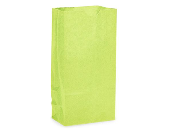 "Lime Green 4 lb Gift Sacks, 5x3x9.5"", 500 Pack"
