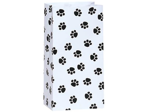 """Paw Print Gift Sack, 4 lb Bag 5x3x9.5"""", 50 Pack"""