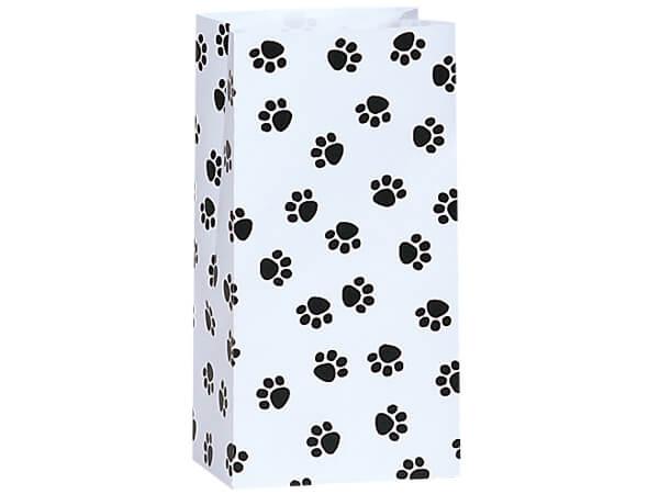"""Paw Print Gift Sack, 4 lb Bag 5x3x9.5"""", 250 Pack"""
