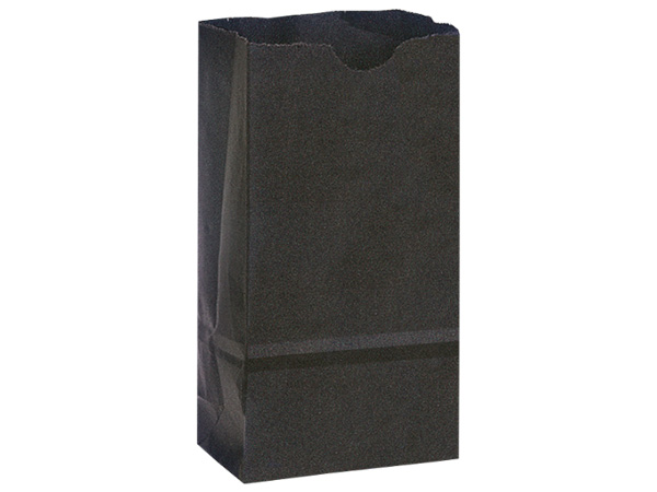 "Black 6 lb Gift Sacks, 6x3.5x11"", 500 Pack"