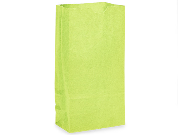 "Lime Green 6 lb Gift Sacks, 6x3.5x11"", 500 Pack"