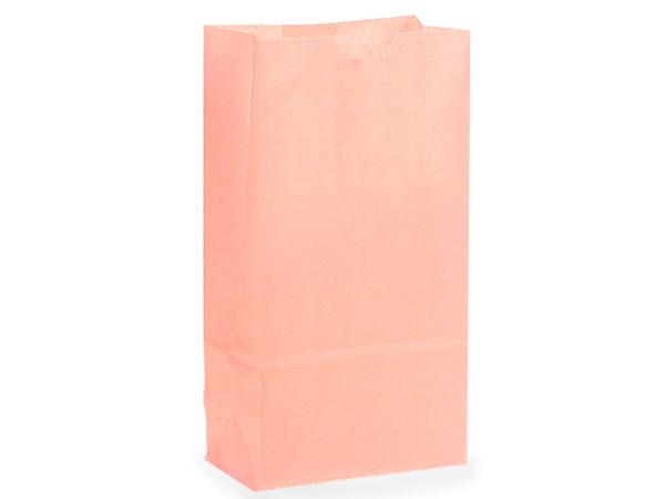 "Petal Pink 6 lb Gift Sacks, 6x3.5x11"", 500 Pack"