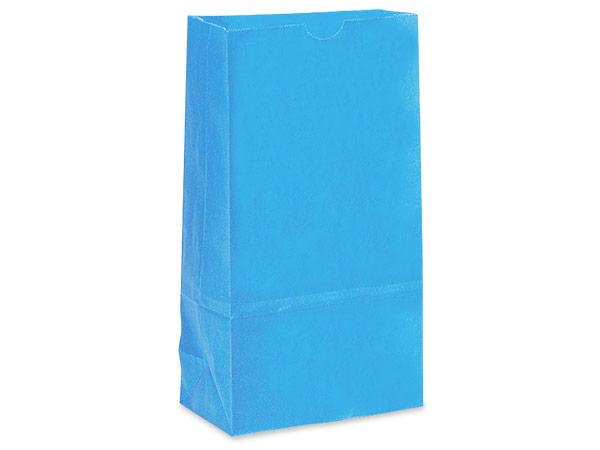 """Sky Blue 6 lb Gift Sacks, 6x3-5/8x11-1/16"""", 500 Pack"""