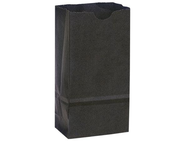 "Black 8 lb Gift Sacks, 6.25x4x12.5"", 500 Pack"