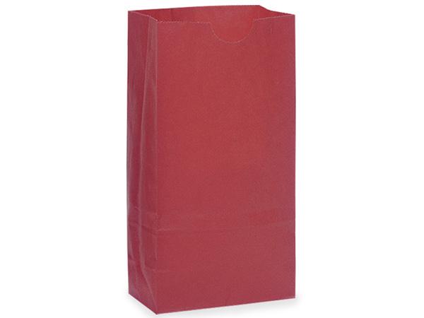"Red 8 lb Gift Sacks, 6-1/4x3-13/16x12-1/2"", 500 Pack"