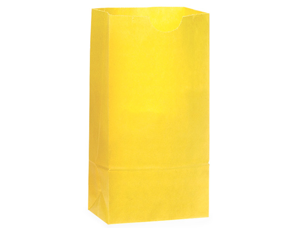 "Sunbrite Yellow 8 lb Sacks, 6.25x4x12.5"", 500 Pack"