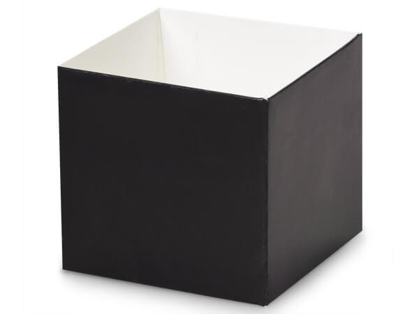 "Matte Black Box Bases, 4x4x3.5"", 10 Pack"