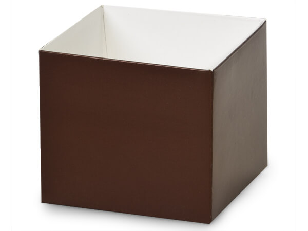"Matte Chocolate Box Bases, 4x4x3.5"", 25 Pack"