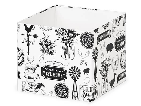 "Farmhouse Favorites Box Bases, 4x4x3.5"", 25 Pack"