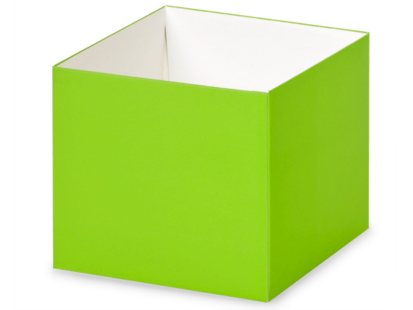 "*4x4x3.5"" Matte Lime Green Box Base"