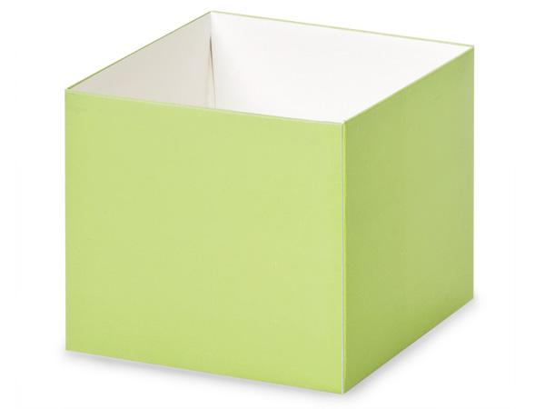 """Matte Pistachio Box Bases, 4x4x3.5"""", 25 Pack"""