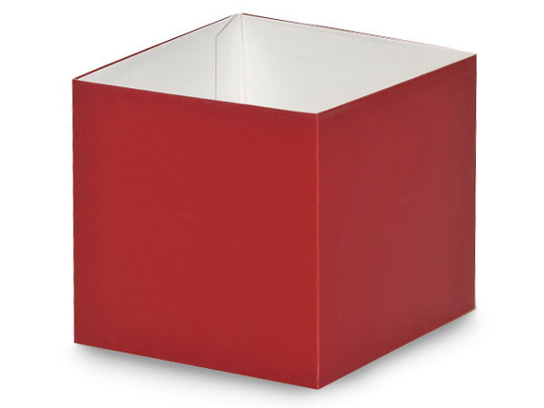 """Matte Red Box Bases, 4x4x3.5"""", 25 Pack"""