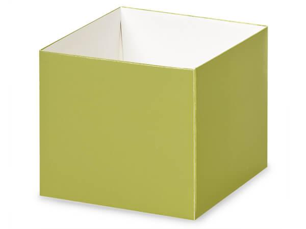 "Matte Sage Box Bases, 4x4x3.5"", 25 Pack"