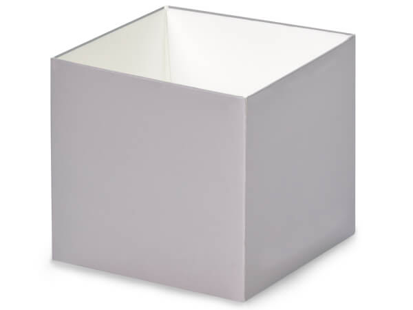 "Metallic Silver Box Bases, 4x4x3.5"", 25 Pack"