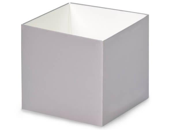 "Metallic Silver Box Bases, 4x4x3.5"", 5 Pack"