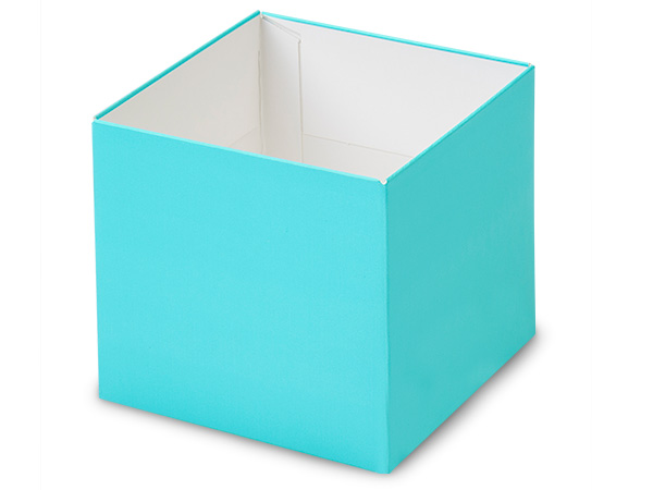 """Matte Turquoise Box Bases, 4x4x3.5"""", 5 Pack"""