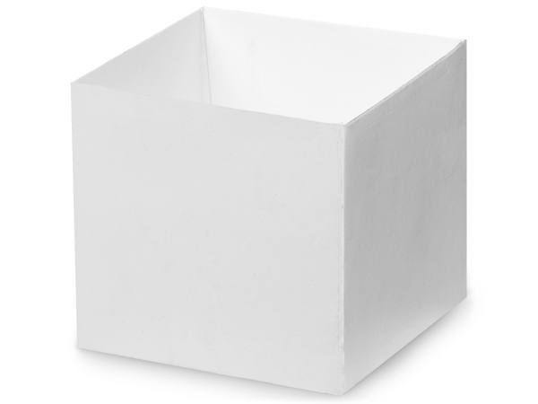 "Matte White Box Bases, 4x4x3.5"", 25 Pack"