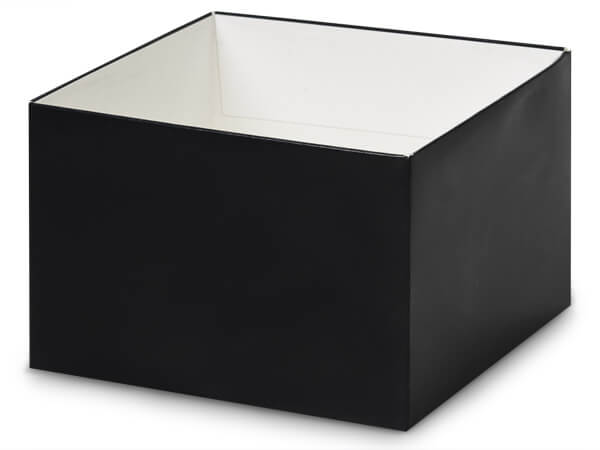 "Matte Black Box Bases, 6x6x4"", 5 Pack"