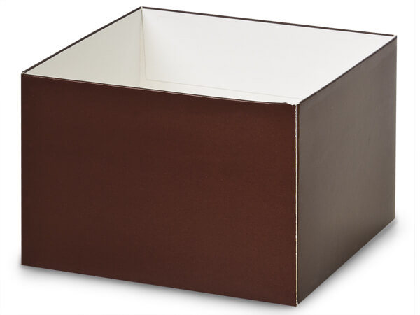 "Matte Chocolate Box Bases, 6x6x4"", 25 Pack"
