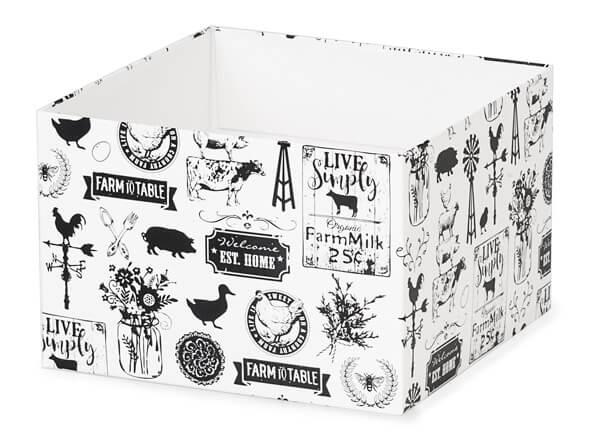 "Farmhouse Favorites Box Bases, 6x6x4"", 25 Pack"