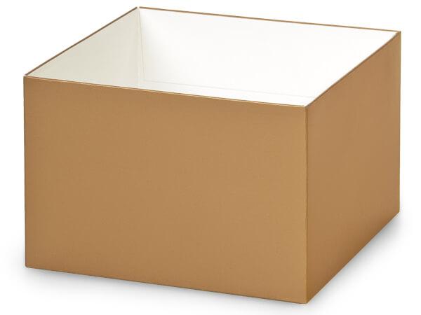 "Metallic Gold Box Bases, 6x6x4"""