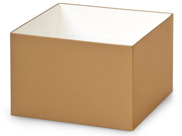 "Metallic Gold Box Bases, 6x6x4"", 10 Pack"