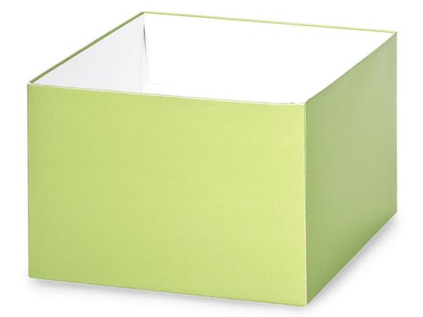 """Matte Pistachio Box Bases, 6x6x4"""""""