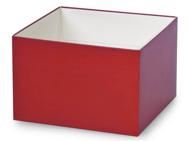 "Matte Red Box Bases, 6x6x4"", 5 Pack"