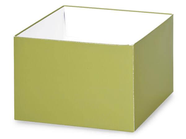 "Matte Sage Box Bases, 6x6x4"", 10 Pack"
