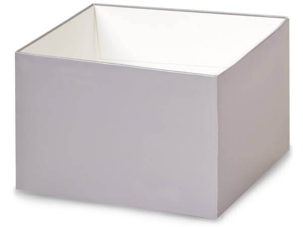 "Metallic Silver Box Bases, 6x6x4"", 10 Pack"