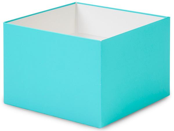 "Matte Turquoise Box Bases, 6x6x4"""