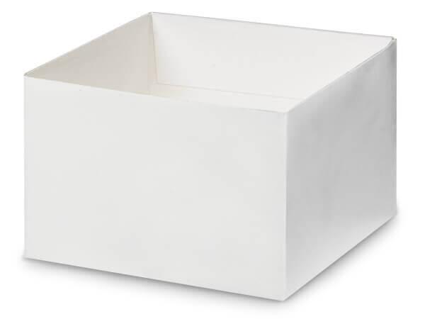 """Matte White Box Bases, 6x6x4"""", 5 Pack"""