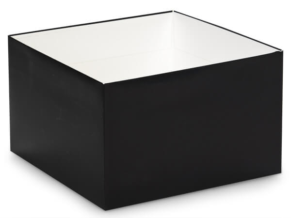 "Matte Black Box Bases, 8x8x5"", 25 Pack"