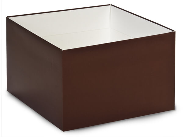 "Matte Chocolate Box Bases, 8x8x5"", 25 Pack"