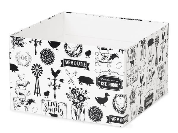 "*Farmhouse Favorites Box Bases, 8x8x5"", 25 Pack"