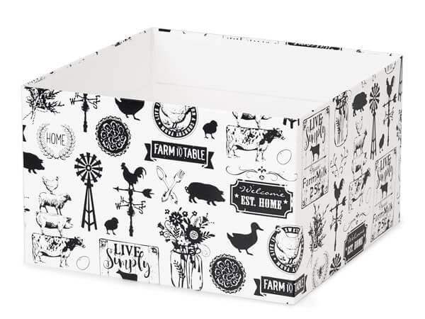 "Farmhouse Favorites Box Bases, 8x8x5"", 5 Pack"