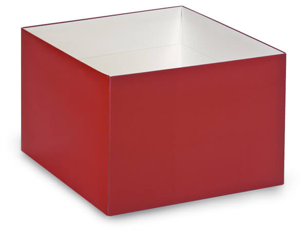 """Matte Red Box Bases, 8x8x5"""", 10 Pack"""