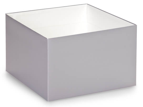 Metallic Silver Box Bases, 8x8x5""
