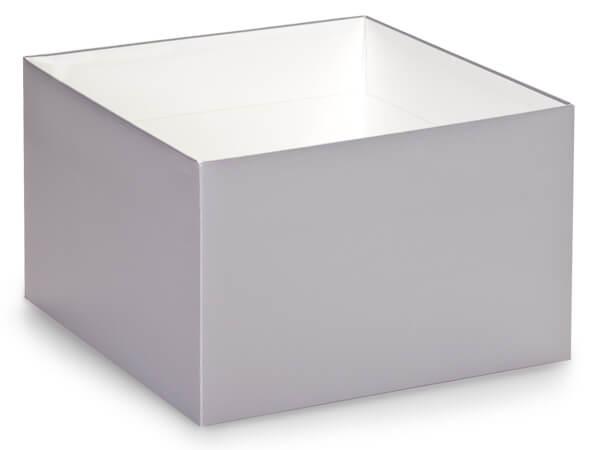 "*Metallic Silver Box Bases, 8x8x5"", 10 Pack"