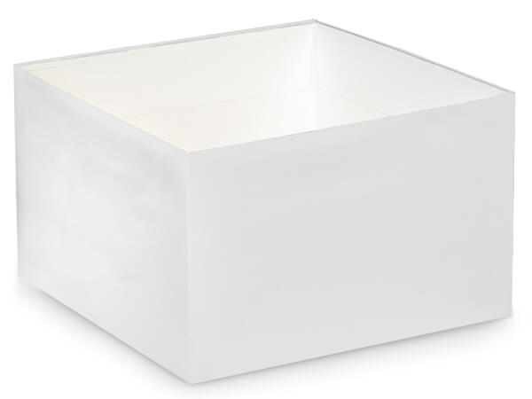 "Matte White Box Bases, 8x8x5"", 25 Pack"