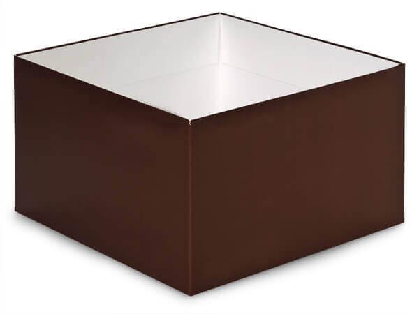 """Matte Chocolate Box Base 10x10x5.5"""""""
