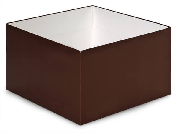 "Matte Chocolate Box Base 10x10x5.5"", 10 Pack"