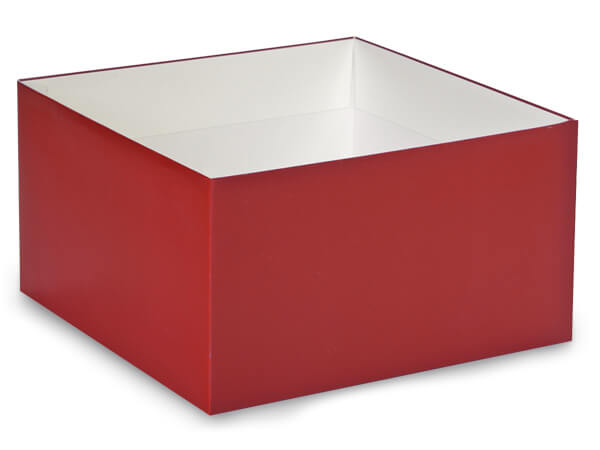 """Matte Red Box Bases, 10x10x5.5"""", 10 Pack"""