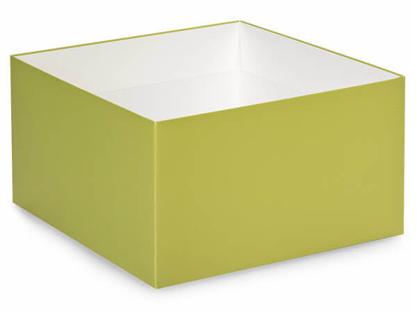 "Matte Sage Box Base 10x10x5.5"", 10 Pack"