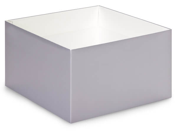 Metallic Silver Box Base 10x10x5.5""